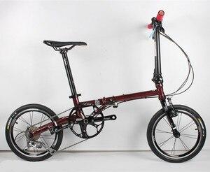 Image 4 - Fnhon FCG1609 Faltrad 16 zoll Minivelo CR MO Stahl V Bremse 9Speed Urban Pendler Fahrrad Für Shimano Shift Retro freizeit BMX