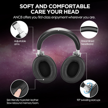 AUSDOM ANC8 Casque Bluetooth HiFi suppression de bruit  avec autonomie de 20H avec étui