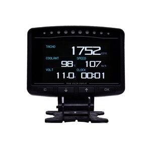 Image 2 - Cxat A208 多機能スマート車 obd hud デジタルメータースピードメーター燃料消費ゲージ故障コードアラーム表示