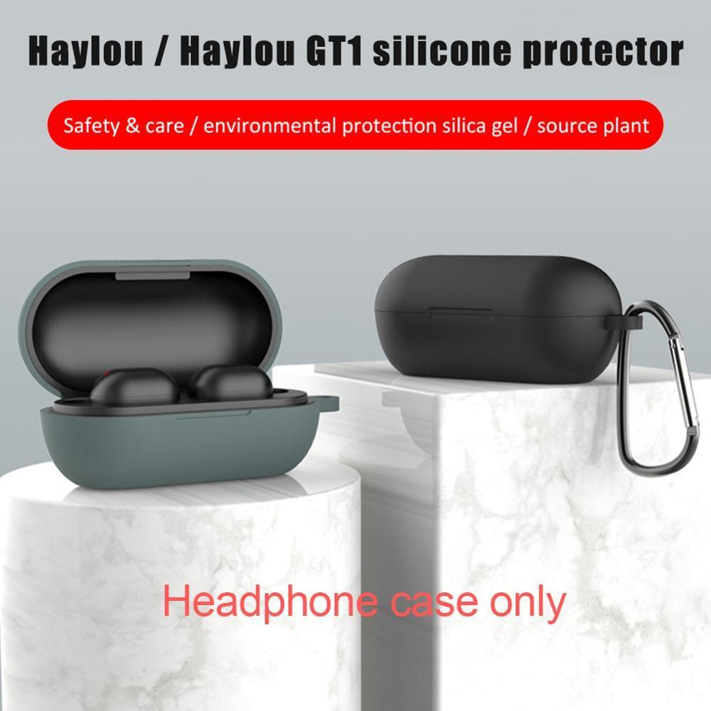 Silicone Case For Haylou GT1/GT1 Plus Earphone Protective Cover With Anti-lost Buckle For Haylou GT1 Bluetooth Headset