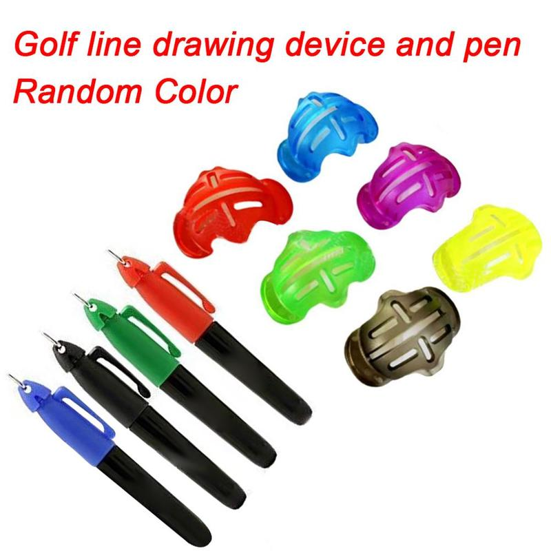 Golf Ball Stencil Template Drawing Putting Line Marker With Pen Plastic Golf Scribe And Marker Golf Accessories Training Aids