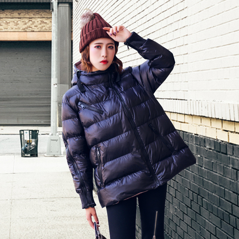 Cotton-padded Clothes Winter Coat Cotton Coat 2018 New Style Fashion Korean-style Loose-Fit Fashion Network Red Down Coat Short