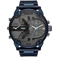 Relogio Masculino red Sport Chronograph Mens Watches new Top Brand Luxury Full Steel Quartz Clock Waterproof Big Dial Watch Men