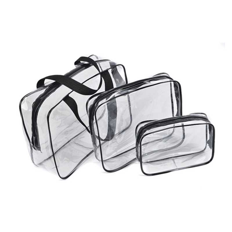 1PCs Transparent Cosmetic Bag PVC Bags Travel Organizer Clear Makeup Bag Beautician Wash Bags Toiletry Bag Beauty Make Up Pouch