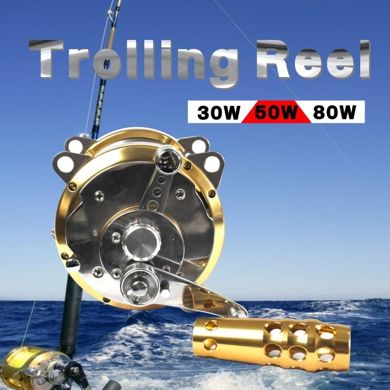 Линия верха снасти 2 Скорость троллинговая катушка из цельнометаллического корпуса катушки тунец океан катушка с популярным дизайном рыболовное судно Reel Big Game 1