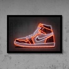 JA Sneaker – chaussures de basket-ball imprimées, affiche de Sport, Art mural de rue, peinture sur toile néon, idée cadeau, décoration de bureau et de maison pour homme