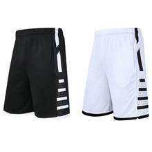 Мужские спортивные шорты для тренажерного зала, быстросохнущие спортивные шорты для баскетбола с карманами на молнии, тренировочные трико...