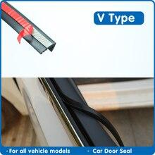 Tipo v 8.5mm tira de vedação de janela de vidro da porta do carro vedador da janela do carro weatherstrip vedações de borracha do automóvel para a selagem automática