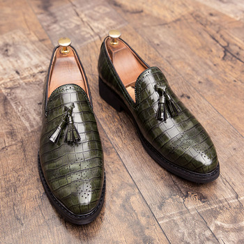 2020 Men Dress Shoes Gentleman Personality trend Paty Leather Wedding Flats Oxfords Formal - discount item  44% OFF Men's Shoes