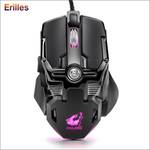 6400DPI USB Wired Mouse Professional-Grade Gaming Mechanical PC Computer Optical Mice RGB Backlit 3D Metal