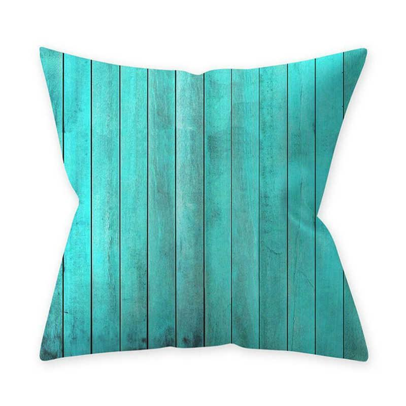 """18/"""" Teal Blue Series Home Decor Pillow Case Throw Waist Sofa Cushion Cover"""