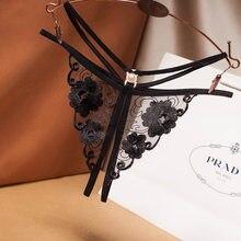 Culotte érotique Sexy pour femmes, Lingerie Sexy, ouverture à l'entrejambe, sous-vêtement, string, vêtement sexuel, sous-vêtements en dentelle