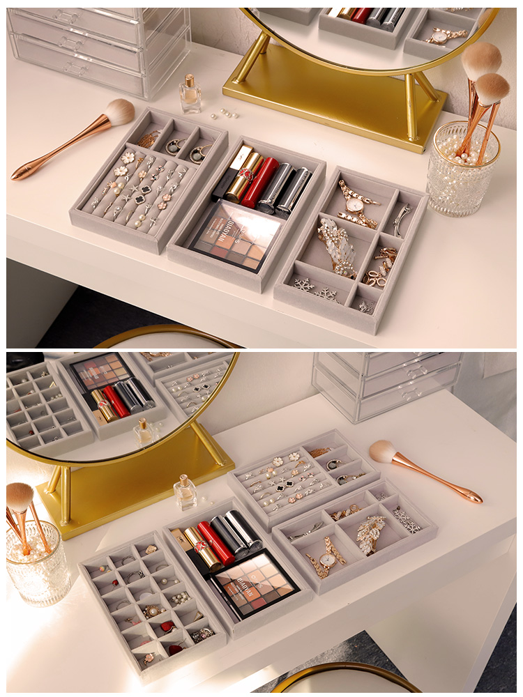 New S/M size Drawer Jewelry Display Storage Tray Jewellery Organizer Box Earrings Holder Rings Packaging Hairpin Necklace Stand