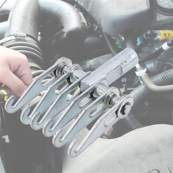 Silver Car Sheet Metal Shaping Machine Claw Tensioner Car Body Dent Repair Puller Claw Hook Slide Hammer Tool
