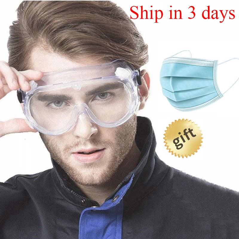 Eyes Safety Glasses For Work Transparent Protective Goggles Anti-virus Mask Eye Protection Glasses Anti-fog Medical Googles 0008