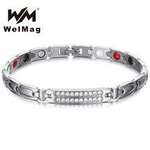 Welmag германий магнитные лечебные браслеты и из нержавеющей