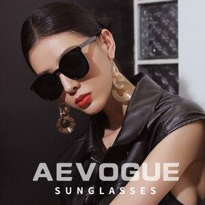 Image 3 - AEVOGUE New Polarized Sunglasses Women Popupar Transparent Round Retro Fashion Sun Glasses Vintage Oculos Unisex UV400 AE0845