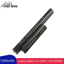 цена на PINZHENG 5200mAh Laptop Battery For Sony VGP-BPS22 PCG-71212T 71211T 61211T 2012 Years For Sony VAIO VPC Series Laptop Bateria