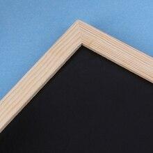 Wood Tabletop Chalkboard Double Sided Blackboard Message Board Children Kids Toy C7AA