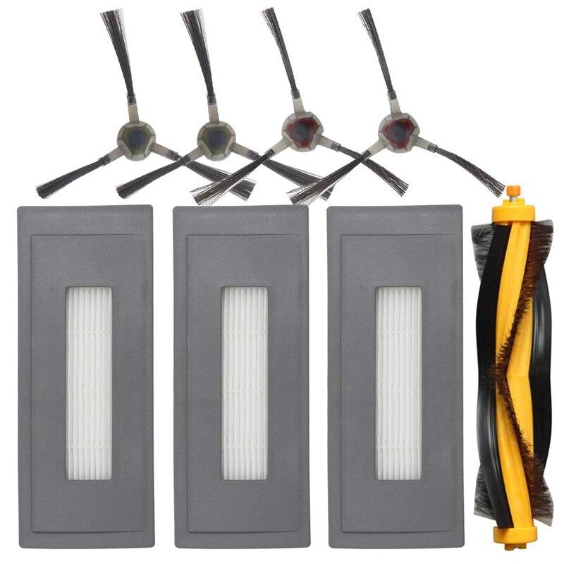 Kit de accesorios de repuesto Compatible con Ecovacs Deebot Ozmo 930 aspiradora robótica, 1 cepillo principal 3 Filtro de alta eficiencia 7 Uds NI-MH 14,4 V batería de alta calidad 3500mAh para panda X500 batería para Ecovacs espejo CR120 aspiradora para Dibea X500 X580