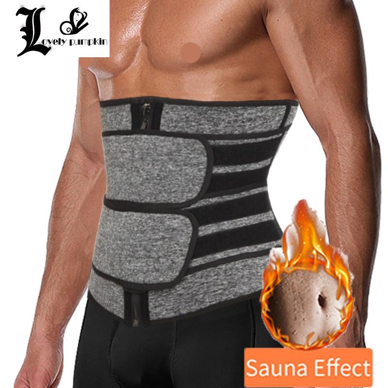 Men Waist Trainer Body Shapers Slimming Belt Modeling Strap Sheath Weight Loss Belly Shaper Workout Trimmer Corset