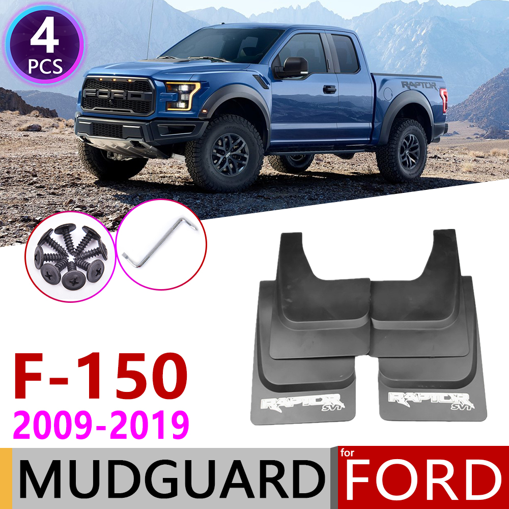 Car Mudflap for Ford Raptor <font><b>F150</b></font> F-150 F 150 2009~2019 Fender Mud Guard Flap Splash Flaps Mudguards <font><b>Accessories</b></font> 2010 2015 2017 image