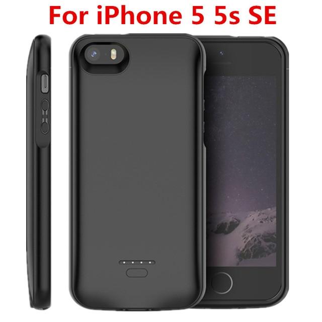 Hot 4000mAh Battery Charger Case For IPhone SE 5SE 5 5S Power Bank Charging Powerbank Case For IPhone 5 5S SE 5SE Battery Case