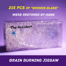 Acrylic Crystal Jigsaw Puzzle Broken Glass Jigsaw The Accident Puzzls Interactive Games Stress Reliever Gift For Adults Children