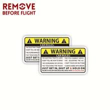 1 çift komik araç güvenlik uyarı kuralları için etiket yapışkanlı vinil araba kamyon pencere grafik tampon