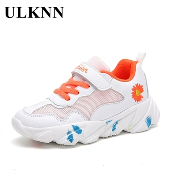 купить ULKNN Autumn Fashion Children Casual Shoes Baby Boys Girls Sneakers Kids Running Shoes Kids Brand Sport White Shoes Rubber Solid в интернет-магазине