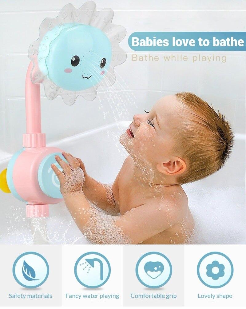 Baby Bath Toy Sunfower Shower Rose Children's Bathroom Bathing Bathtub Play Water Games Toys