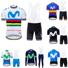 2019 Custom Logo Cycling Clothing Men Cycling Set Bike Clothing Breathable Anti-UV Bicycle Wear/Short Sleeve Cycling Jersey Sets
