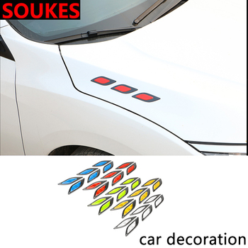 6PCS Car Hood Fender Colorful Carsh Sticker For Suzuki Swift Bmw F10 X5 E70 E30 F20 E34 G30 E92 E91 M Volvo XC90 S60 V40 S80 image
