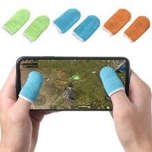 1 пара, дышащий игровой контроллер, покрытие для пальцев, защита от пота, Игровые перчатки для пальцев, не царапающийся рукав, чувствительный нейлоновый чехол для мобильного телефона