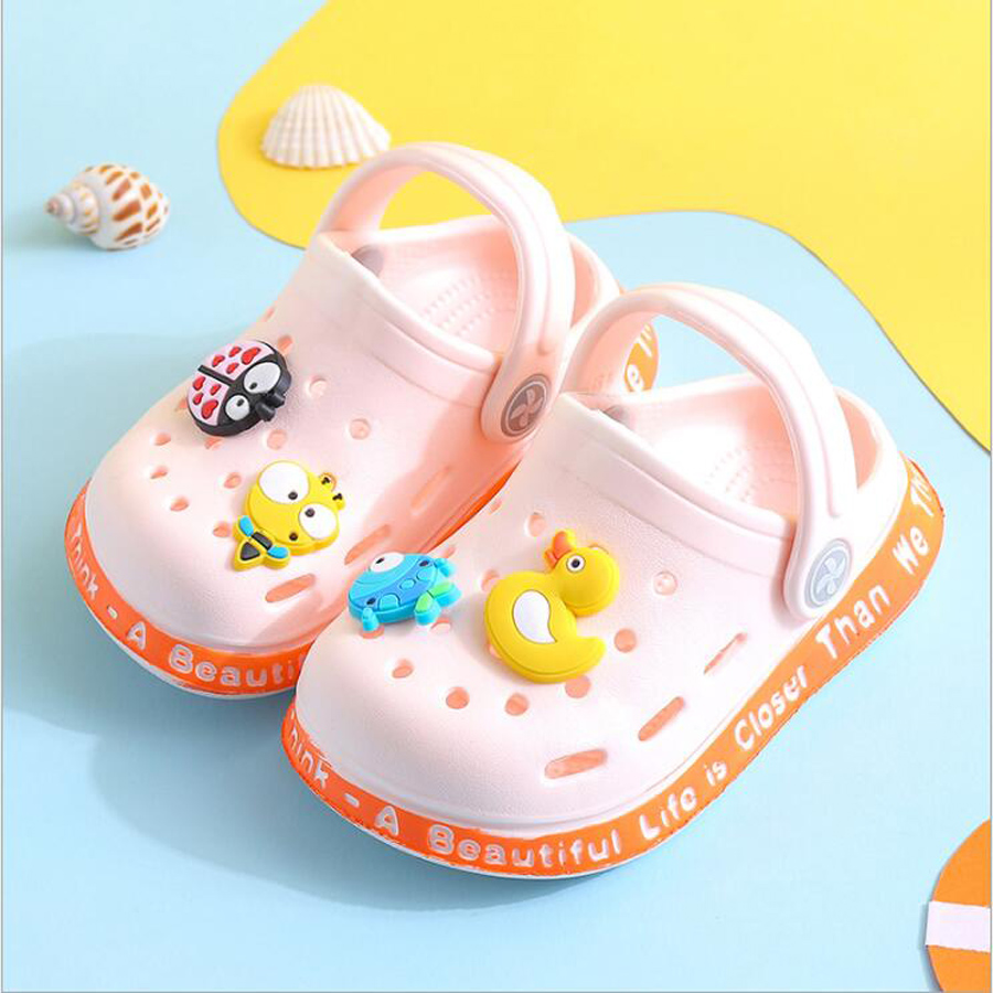 Kids cartoon duck cute toddler water shoes summer infant boys girls soft flat baby sandals 1 2 3 years toddlers sandals pvc shoes