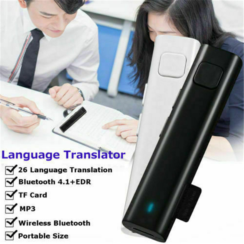 Smart Instant Voice Translator Mini Bluetooth Real Time Translation 26 Language Automatic Speech Travel Translator