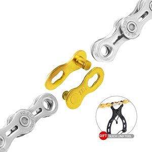 Image 4 - VG Sports Bicycle Chain 6 7 8 9 10 11 Speed Velocidade Titanium Rainbow Gold Silver Mountain Road Bike MTB Chains Part 116 Links