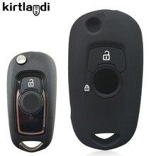 2 botões de silicone caso chave do carro capa titular para opel vauxhall astra k corsa e 2015 2016 2017 2018 2019 fob chave capa protetora