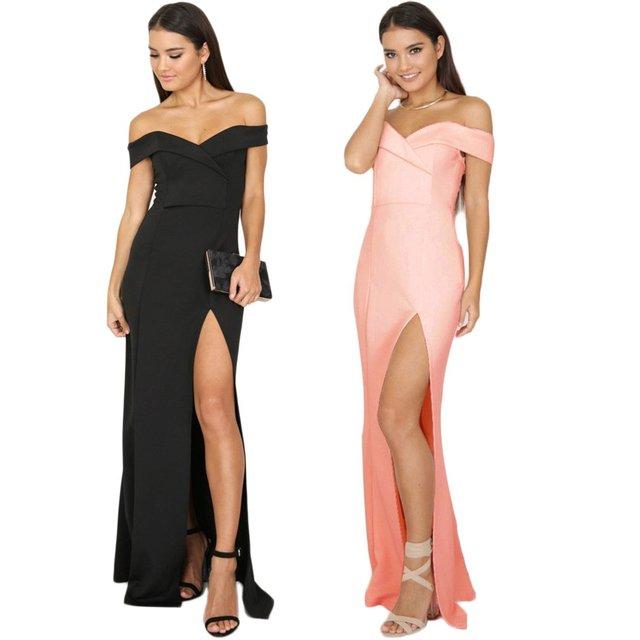 Off-the-shoulder Black Evening Dress 2