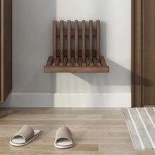 Folding Stool Shoe-Changing Wall Hidden Ultra-Thin