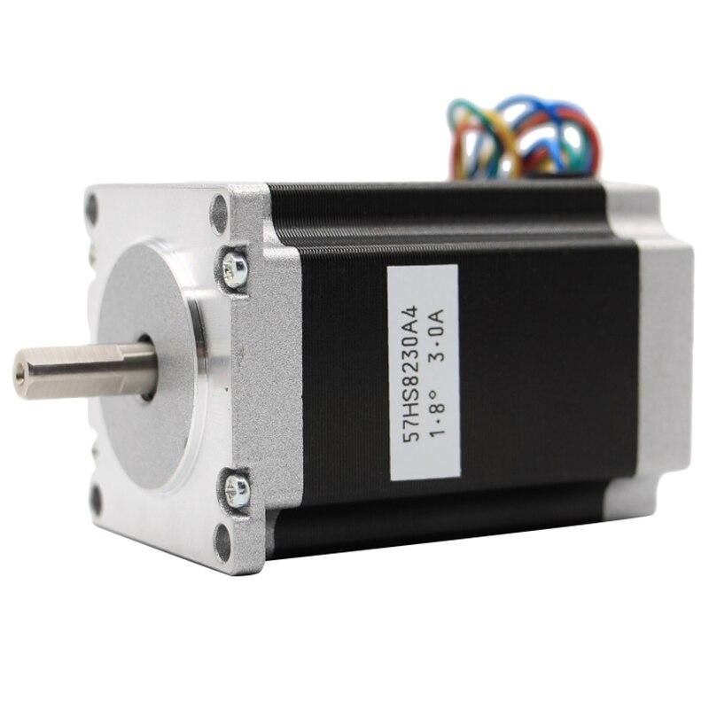 Nema 23 Cnc Stepper Motor 57x82Mm 3A 2.2N.M D= 8Mm 315Oz-In Nema23 Cnc Router Engraving Milling Machine 3D Printer