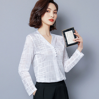 J443497 Women tops chiffon blouse women shirt blusas femininas
