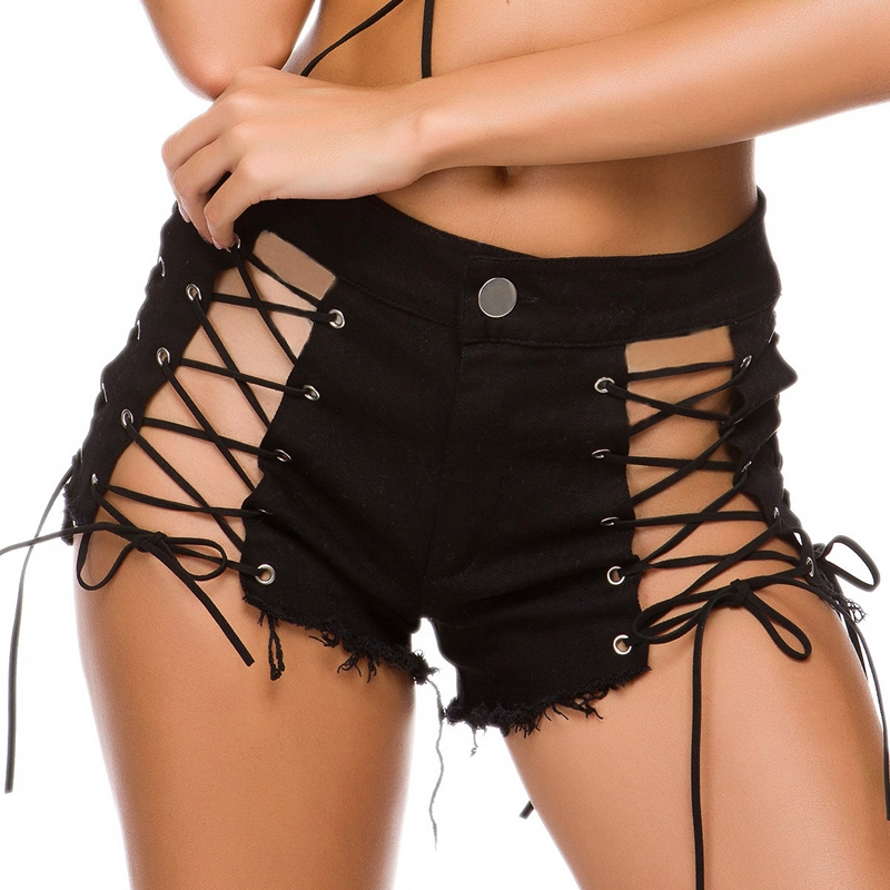 2020 Fashion Mini Shorts Sexy High Waist Shorts Women Denim Thong Shorts Jeans Summer NightClub Bikini Shorts Skinny Hot Shorts