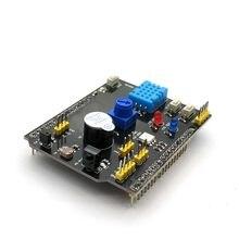 DHT11 LM35 capteur d'humidité de la température adaptateur de carte d'extension multifonction pour Arduino UNO R3 RGB LED récepteur IR Buzzer I2C