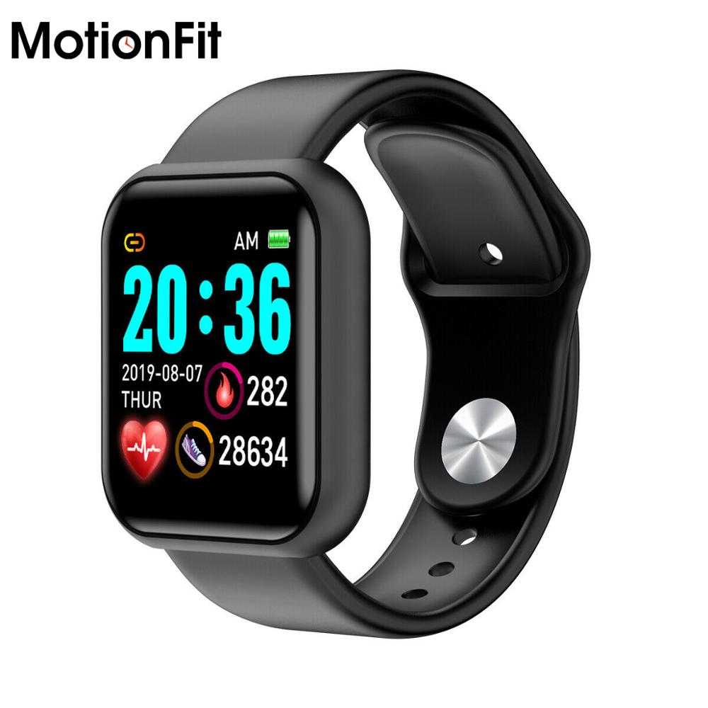 MotionFit D20 Pro Smart Watch Men Sport Bluetooth Wristband Blood Pressure Count Monitoring Heart Rate Fitness Bracelet Tracker