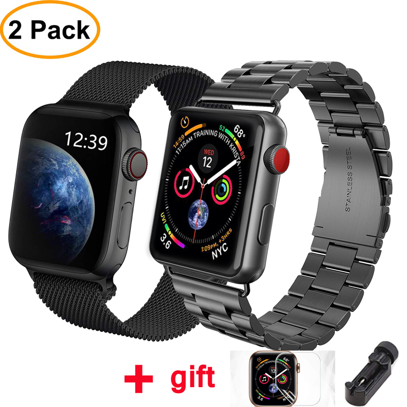 Milanese Loop strap for Apple watch band 42mm 38mm iWatch band 44 mm 40mm Stainless steel bracelet Apple watch Accessories