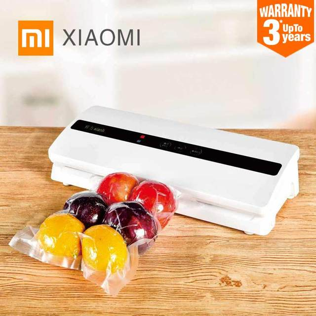 $ US $52.62 2019 New XIAOMI MIJIA Xianli Vacuum Packing Machine Automatic Vacuum Food Sealers packer bags degasser for touch Kitchen Sealing