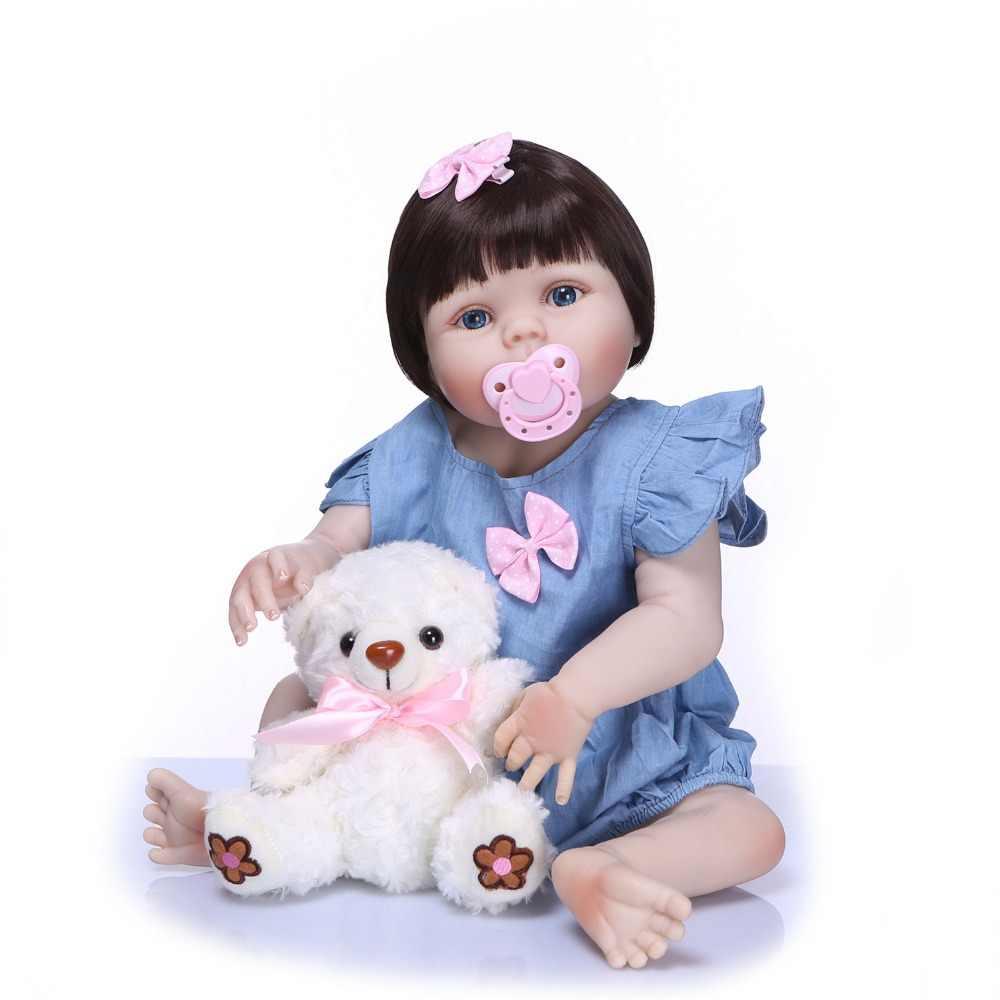 23 дюймов 55 см Возрожденный ребенок куклы принцесса девочка игрушки Handmad силиконовая Детская кукла Reborn Детские куклы дети Bathe Play House Игрушка Кукла