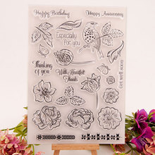 Clear Stamps Seal for DIY Scrapbooking Card Bird Flowers Rubber Stamps Making Album Photo Crafts Handmade Decoration New Stamps azsg lovely cat clear stamps seal for diy scrapbooking card making photo album decoration supplies