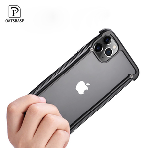 Image 5 - Funda de teléfono para Iphone 11 11pro 11pro max, bolsa de aire de lujo con marco de Metal, a prueba de golpes, original, Bumper Back Bover